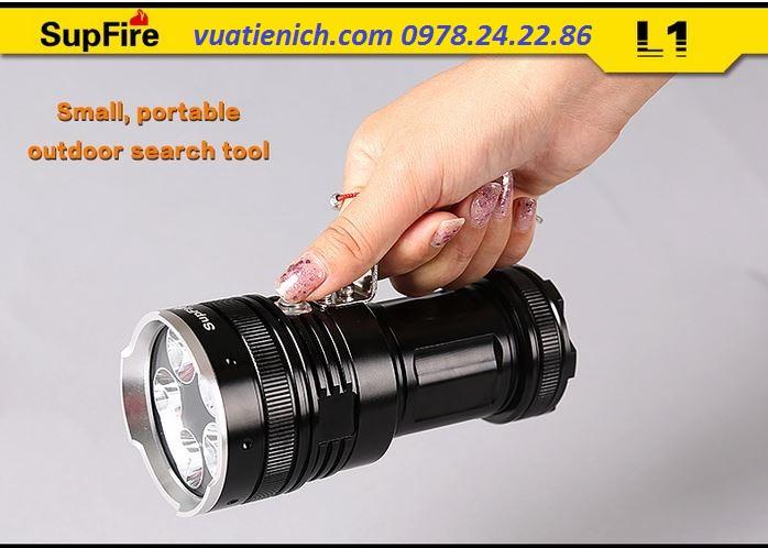 Đèn pin cao cấp SupFire L1- 5 bóng LED độ sáng cực mạnh