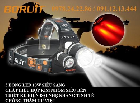 ĐÈN-PIN-SIÊU-SÁNG-ĐỘI-ĐẦU-BORUIT-RJ-3001-3